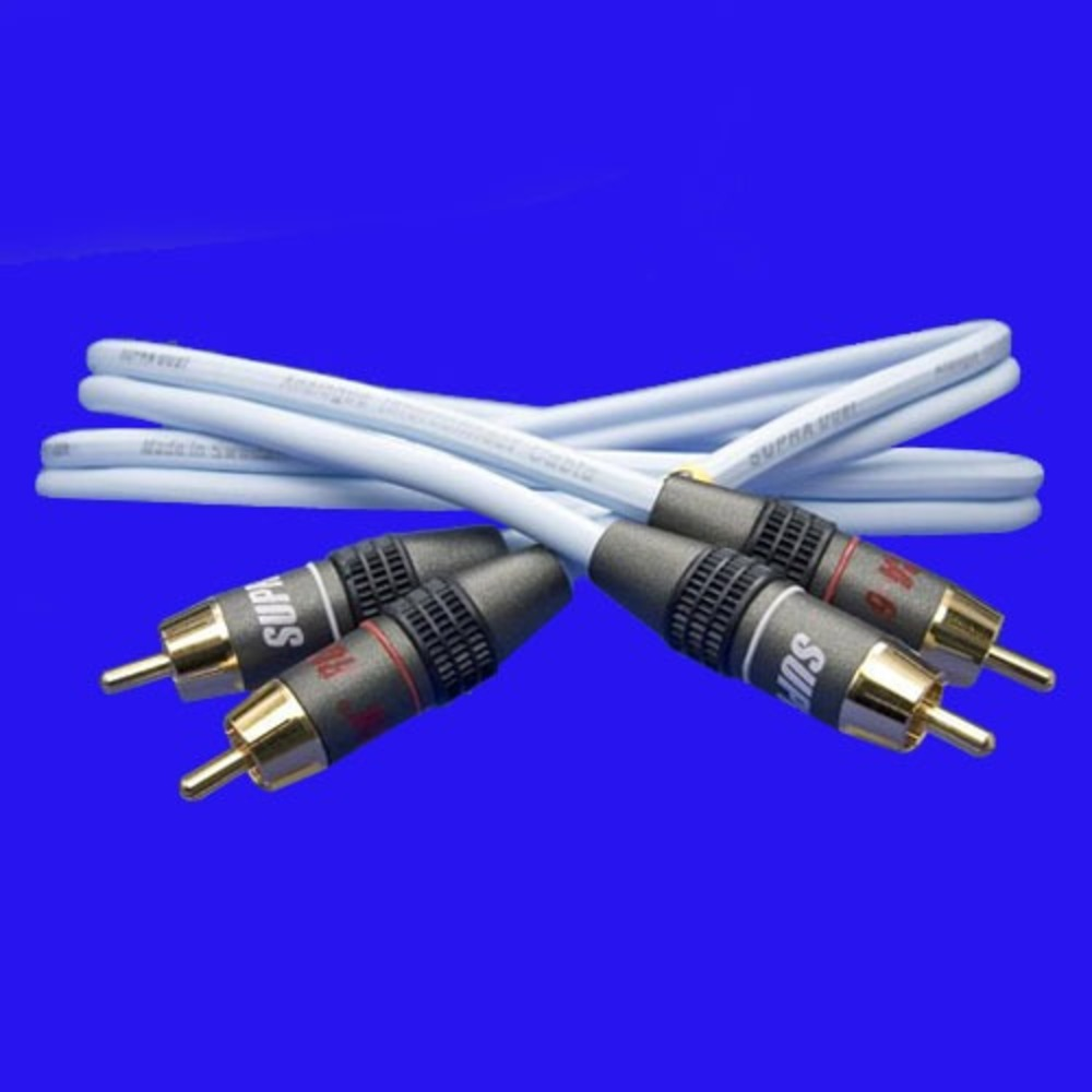 Кабель аудио 2xRCA - 2xRCA Supra Dual-Rca 1.0m