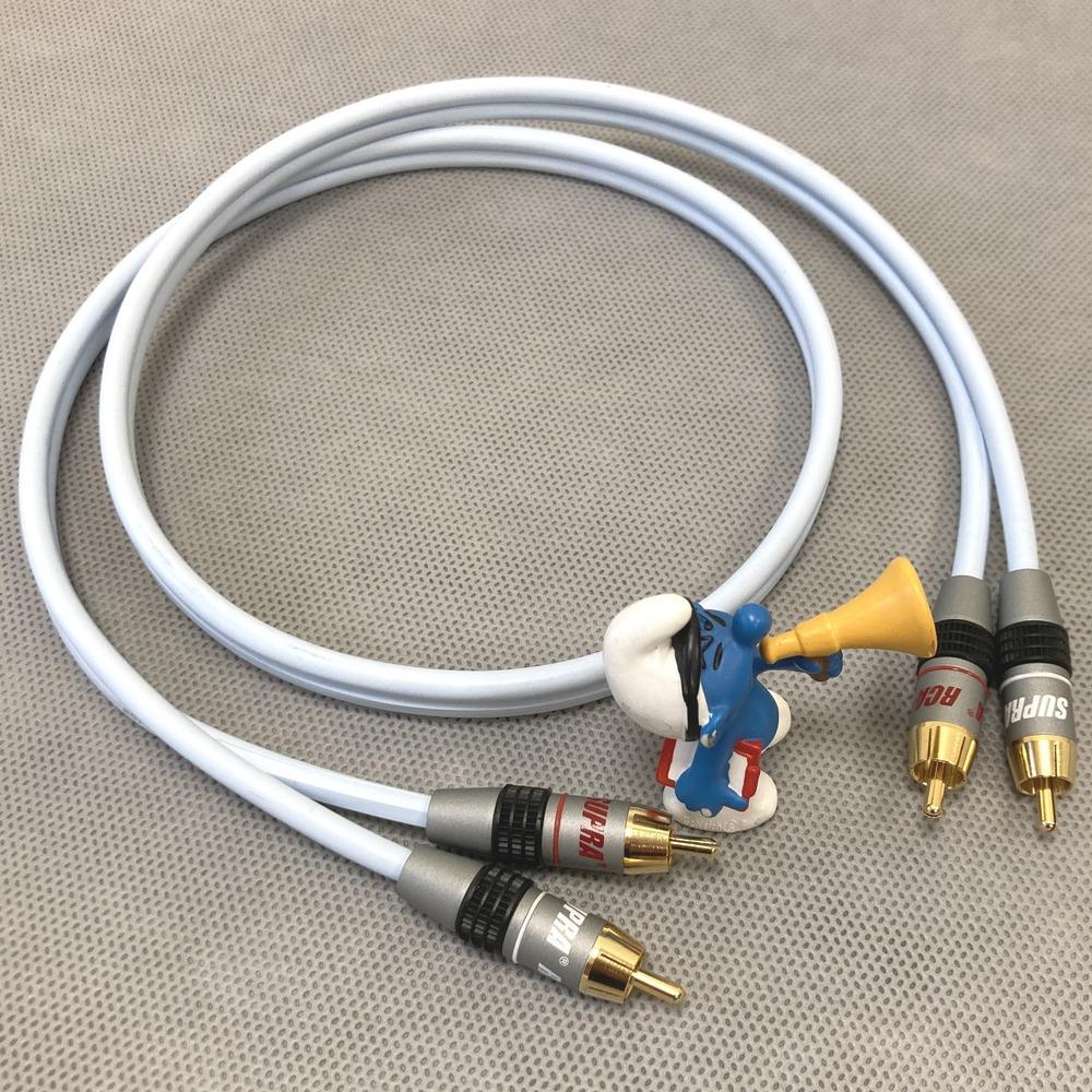 Кабель аудио 2xRCA - 2xRCA Supra Dual-Rca 2.0m