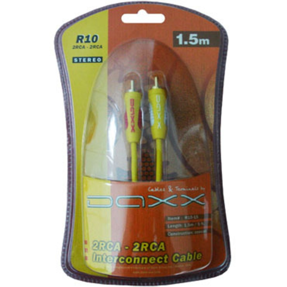 Кабель аудио 2xRCA - 2xRCA DAXX R10-15 1.5m