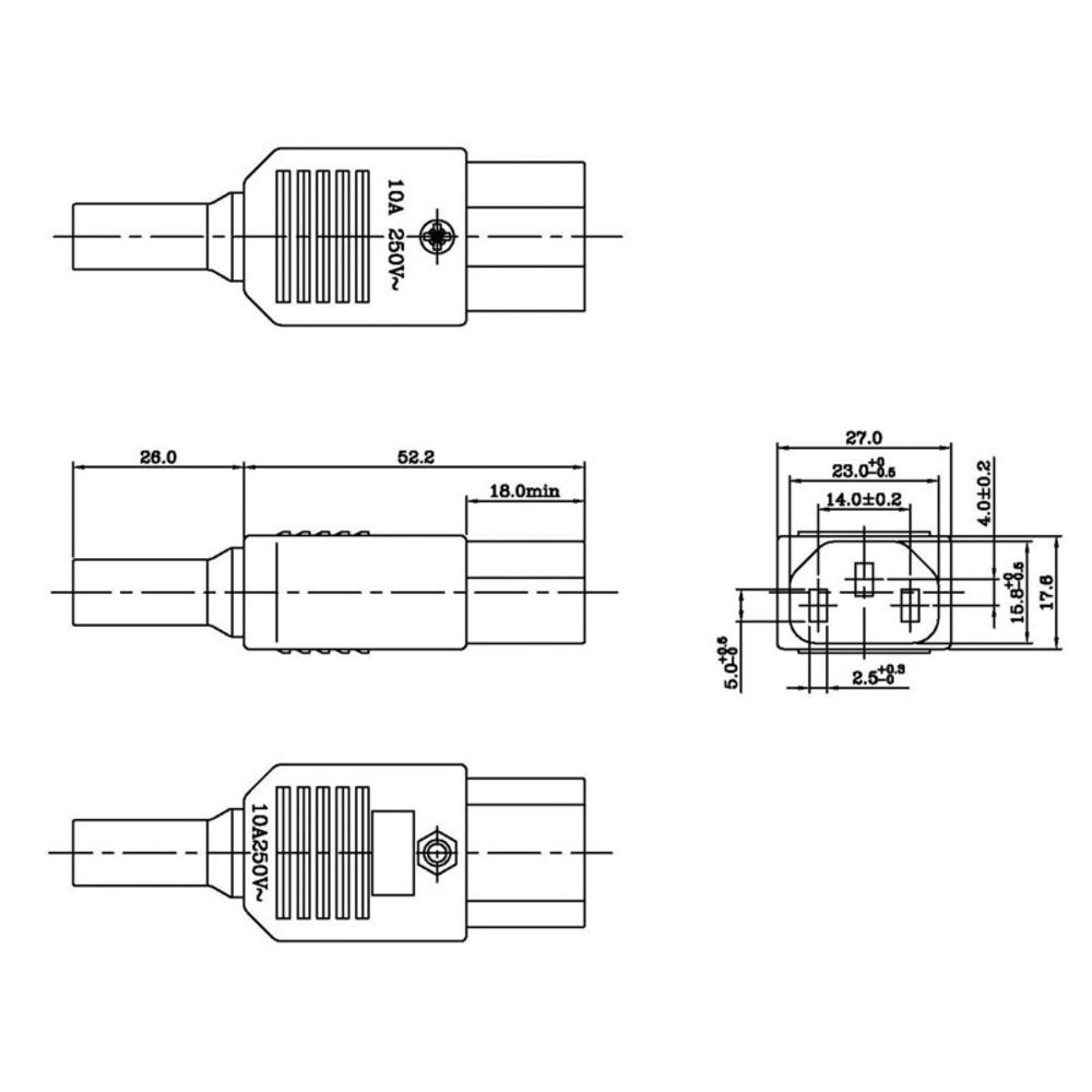 Разъем IEC C13 Hyperline CON-IEC320C13