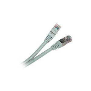Кабель витая пара патч-корд Hyperline PC-LPM-STP-RJ45-RJ45-C5e-1M-LSZH-GY 1.0m