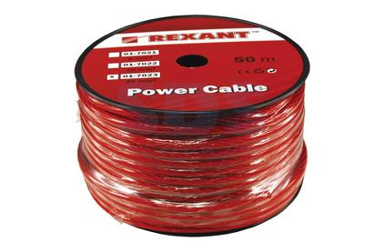 Аккумуляторный кабель Rexant 01-7022 Power Cable 1х10мм (50 метров)