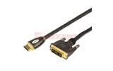 Кабель HDMI-DVI Rexant 17-6605 HDMI - DVI-D Gold (1 штука) 3.0m