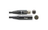 Аудио кабель 1xMini XLR - 1xMini XLR Stagg NAC3MXFMXMR 3.0m