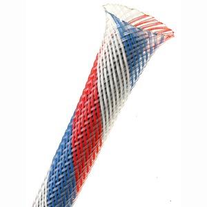 Защитная кабельная оплетка Rich Pro PT2/PT Nylon Skin Red-White-Blue (3.2 - 10.9 mm)