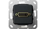 Розетка аудио/видео Gira 564410 System 55 Вставка DVI черный матовый