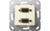 Розетка аудио/видео Gira 565401 System 55 Вставка VGA глянцевый кремовый