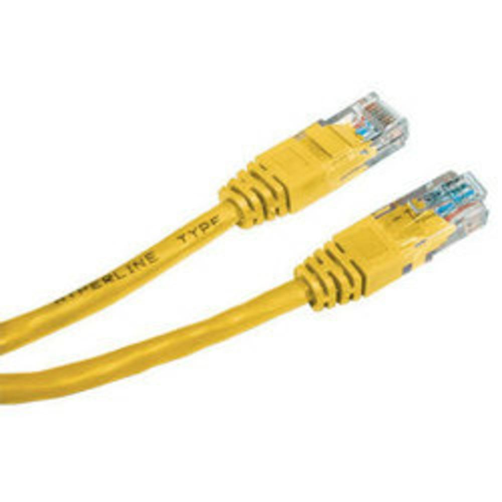 Кабель витая пара патч-корд Hyperline PC-LPM-UTP-RJ45-RJ45-C5e-5M-LSZH-YL 5.0m