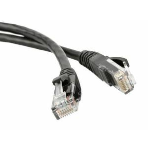 Кабель витая пара патч-корд Hyperline PC-LPM-UTP-RJ45-RJ45-C6-1M-LSZH-BK 1.0m