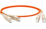 Кабель оптический патч-корд Hyperline FC-D2-50-SC/PR-SC/PR-H-5M-LSZH-OR 5.0m