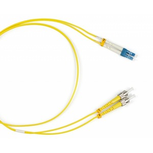 Патч-корд волоконно-оптический Hyperline FC-D2-9-LC/UR-ST/UR-H-3M-LSZH-YL 3.0m