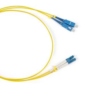 Патч-корд волоконно-оптический Hyperline FC-D2-9-LC/UR-SC/UR-H-5M-LSZH-YL 5.0m
