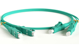 Патч-корд волоконно-оптический Hyperline FC-D2-503-LC/PR-SC/PR-H-5M-LSZH-AQ 5.0m