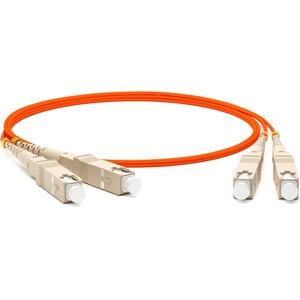 Патч-корд волоконно-оптический Hyperline FC-D2-62-SC/PR-SC/PR-H-5M-LSZH-OR 5.0m