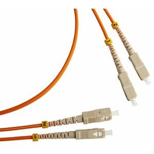 Патч-корд волоконно-оптический Hyperline FC-D3-50-SC/PR-SC/PR-H-5M-LSZH-OR 5.0m