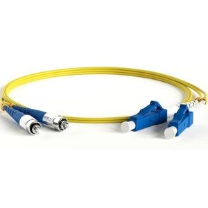 Патч-корд волоконно-оптический Hyperline FC-D2-9-FC/UR-LC/UR-H-5M-LSZH-YL 5.0m