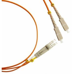Патч-корд волоконно-оптический Hyperline FC-D2-50-LC/PR-SC/PR-H-5M-LSZH-OR 5.0m