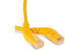 Кабель витая пара патч-корд Hyperline PC-APM-UTP-RJ45/L45-RJ45/L45-C6-1M-LSZH-YL 1.0m