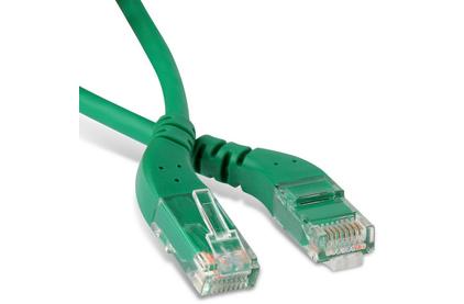 Кабель витая пара патч-корд Hyperline PC-APM-UTP-RJ45/L45-RJ45/L45-C6-1M-LSZH-GN 1.0m