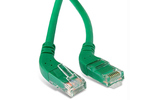 Кабель витая пара патч-корд Hyperline PC-APM-UTP-RJ45/R45-RJ45/L45-C5e-1M-LSZH-GN 1.0m