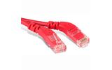 Кабель витая пара патч-корд Hyperline PC-APM-UTP-RJ45/R45-RJ45/L45-C5e-1M-LSZH-RD 1.0m