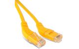 Кабель витая пара патч-корд Hyperline PC-APM-UTP-RJ45/R45-RJ45/L45-C5e-1M-LSZH-YL 1.0m
