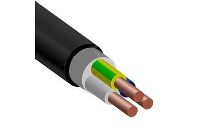 Отрезок акустического кабеля ВВГнг(А)-LS (Арт.1523) 3х2.5 Черный 18.7m