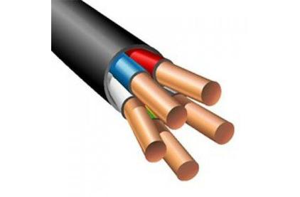 Отрезок акустического кабеля ВВГнг(А)-LS (Арт.1526) 5х4 Черный 10.5m
