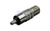 Соединитель антенный PROconnect 05-4304-4 F - штекер RCA (1 штука)