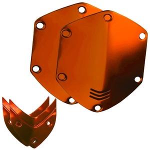 Сменные накладки для наушников V-moda On-Ear Metal Shield Kit Sun Orange