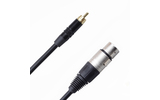 Кабель аудио 1xRCA - 1xXLR Rich Pro RP500BLK 1.0m