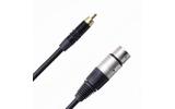 Кабель аудио 1xRCA - 1xXLR Rich Pro RP500BLK 1.5m