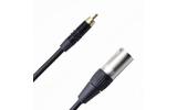 Кабель аудио 1xRCA - 1xXLR Rich Pro RP501BLK 0.75m