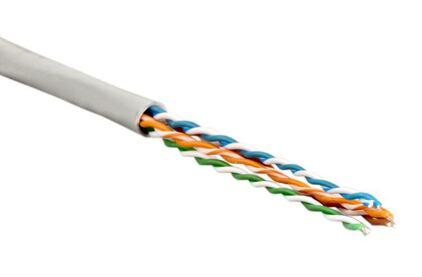 Отрезок кабеля витая пара Hyperline (арт. 2529) UTP4-C5E-SOLID-GY 2.4m