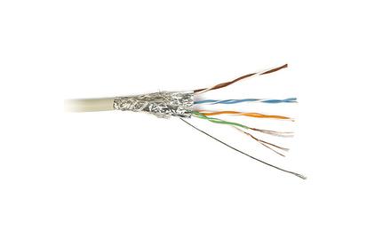 Отрезок кабеля витая пара Hyperline (арт. 2546) SFTP4-C5E-SOLID-GY 4.65m