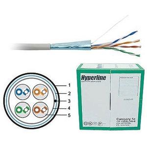 Отрезок кабеля витая пара Hyperline (арт. 2587) FTP4-C5E-SOLID-GY 5.5m