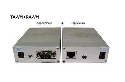 Передача по витой паре VGA Osnovo TA-V/1+RA-V/1