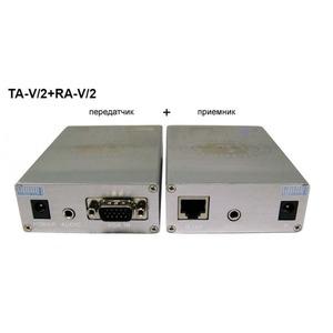 Передача по витой паре VGA Osnovo TA-V/2+RA-V/2