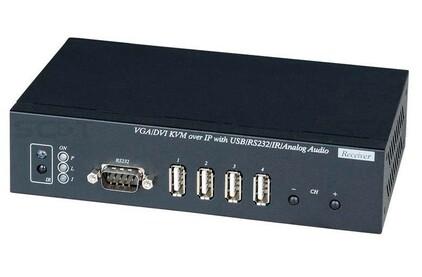 Передача по витой паре DVI, данные (RS-232) и аудио SC&T VDKM01BR