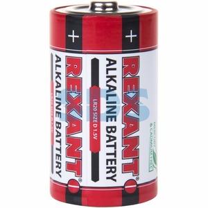 Алкалиновая батарейка Rexant 30-1020 D/LR20 1,5 V 15200 mAh (2 штуки)