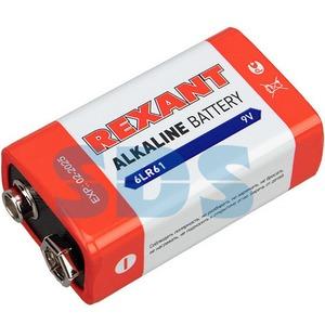 Алкалиновая батарейка Rexant 30-1061 6LR61 9V 600 mAh (1 штука)