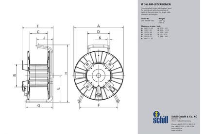Катушка для транспортировки кабеля Schill IT380.RM