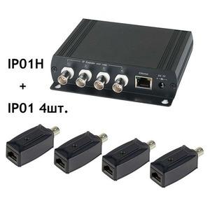 Передача по коаксиальному кабелю Ethernet SC&T IP01K