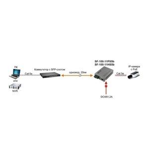 Преобразователь Оптические медиаконвертеры SF&T SF-100-11HS5b