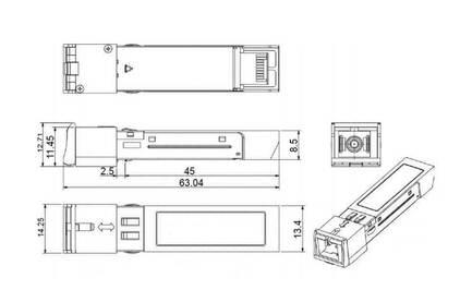 Преобразователь SFP модуль SF&T SFP-S5a/F