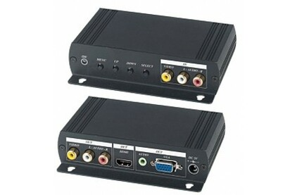 Преобразователь HDMI, аналоговое видео и аудио SC&T AD001HH