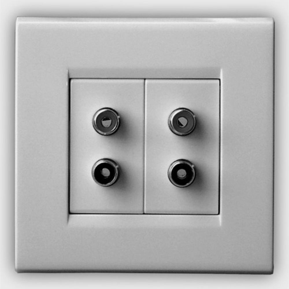 Розетка аудио/видео QED (A-WM07) RCA Socket WM07