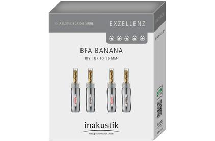 Разъем Банана Inakustik 006500021 Exzellenz BFA Banana 4-Set