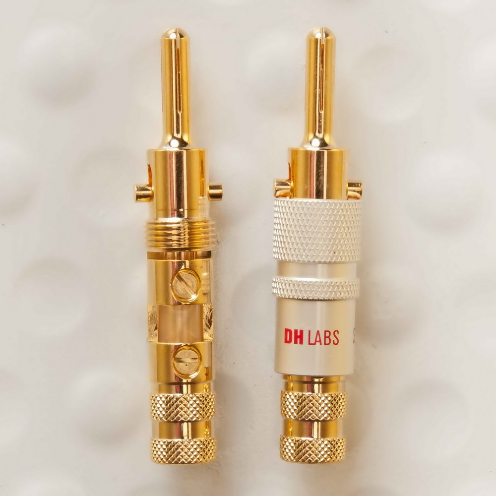 Разъем Банана DH Labs Banana Locking-1 Plug Gold