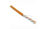 Витая пара в катушке не экранированная Hyperline UUTP4-C5E-S24-IN-PVC-OR-305 (305м)